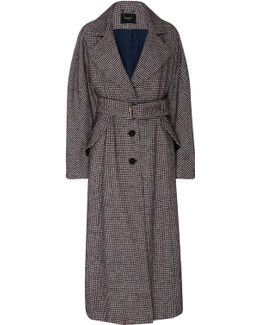 Helm Houndstooth Belted Trench Coat