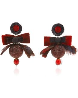 Red Disco Ball Earrings