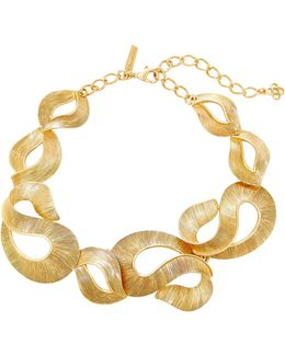 Twisted Gold-tone Ribbon Necklace