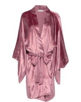 Silk-trimmed Velvet Robe