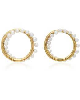 Cameleon 18k Gold Pearl Earrings