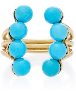 18k Gold Turquoise Ring