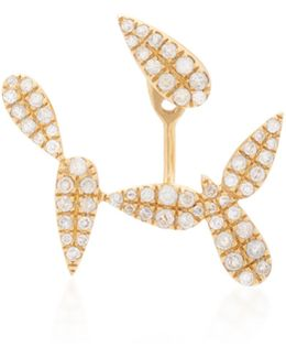 18k Gold Diamond Single Earring