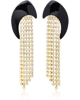 M'o Exclusive Gold-plated Swarovski Crystal Earrings