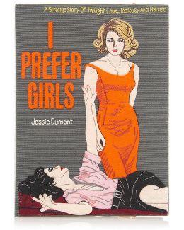 I Prefer Girls Book Clutch