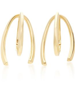 Honeysuckle 9k Gold Long Earrings