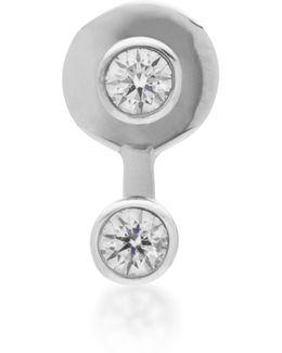 Mademoiselle 18k White Gold Diamond Single Earring