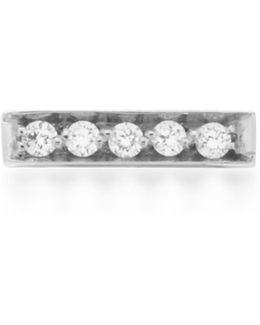 Medellin 18k White Gold Diamond Single Earring