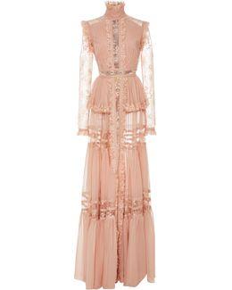 Crepe Georgette Long Sleeve Dress