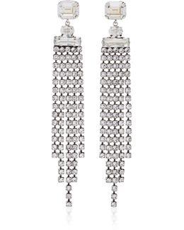 Holly Silver-tone Crystal Drop Earrings