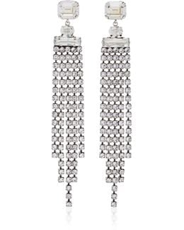 Holly Silver-tone Crystal Drop Earrings