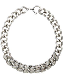 The Embrace Silver-tone Crystal Necklace