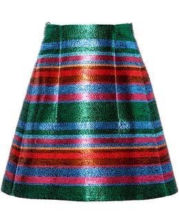 Striped Lurex Mini Skirt
