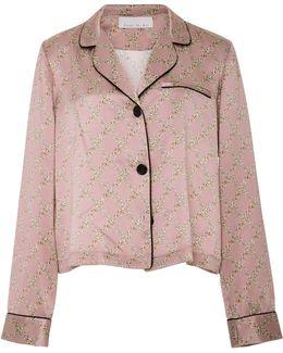 Pink Silk Pajama Top