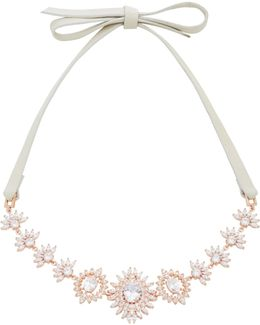 Monarch Eye Of Dana Crystal And Rose Gold-plated Choker