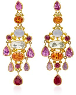 Chandelier Pink Sapphire Earrings
