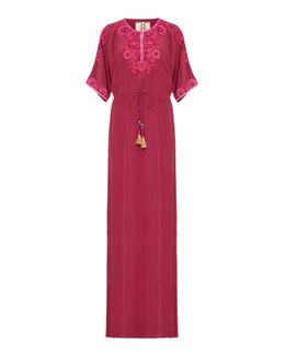 Embroidered Calista Gown