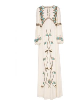 Sophia Embroidered Silk Gown