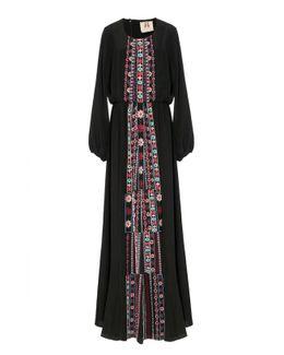 Onyx Embroidered Rebecca Dress