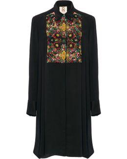 Emmanuel Embroidered Tuxedo Silk Tunic