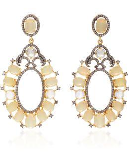Indorussian Opal Oval Earrings
