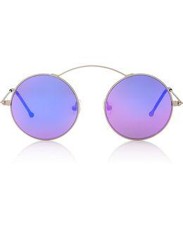Met-ro Round-frame Stainless Steel Sunglasses