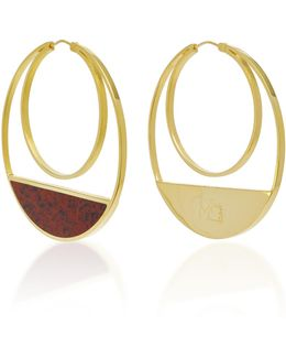 Callao Maxi Loops 21k Gold-plated Earrings
