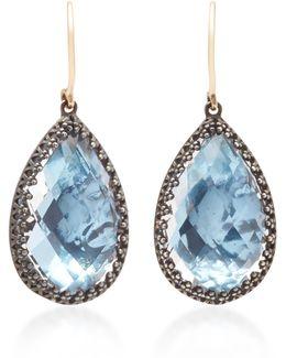 Sophia 1-drop Gold And Quartz Earrings