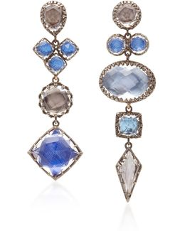Sadie Mis-matched Gold And Quartz Convertible Earrings