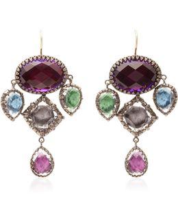 Sadie Girandole Gold And Quartz Earrings
