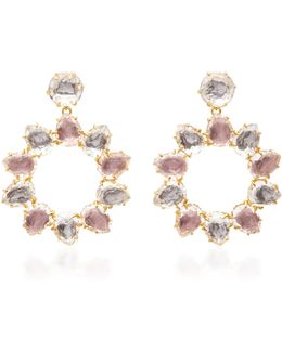 Caterina Pinwheel Gold And Quartz Earring