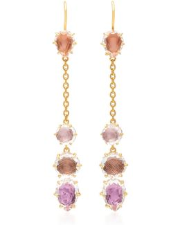 Caterina Chain Gold And Quartz Earrings