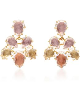 Caterina Pansy Gold And Quartz Earrings