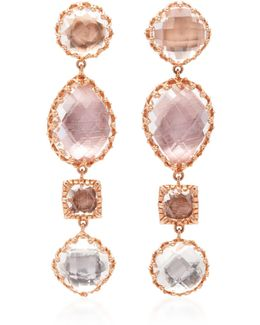 Sadie 4-drop Gold And Quartz Earrings