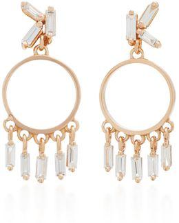 18k Rose Gold Diamond Earrings