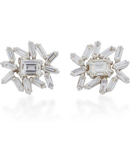 One Of A Kind White Gold Diamond Earrings