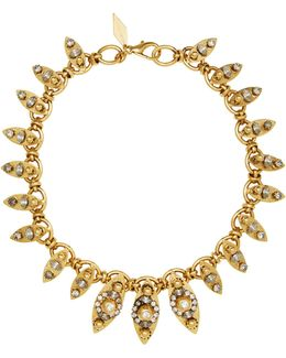 18k Gold-plated Crystal-embellished Marquis Necklace