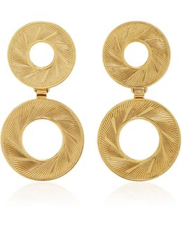 18k Gold-plated Double Radius Hoop Earrings