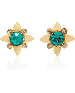 18k Gold-plated Star Crystal Stud Earrings