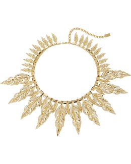 Raven Gold-tone Pave Collar Necklace
