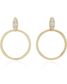 Lucienne 18k Rose Gold Diamond Hoop Earrings