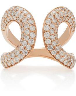 Medusa 18k Rose Gold Diamond Ring