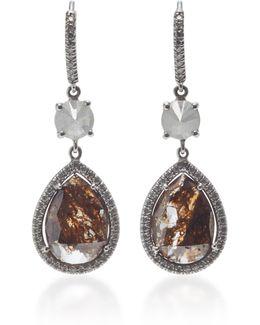 18k White Gold And Diamond Drop Earrings