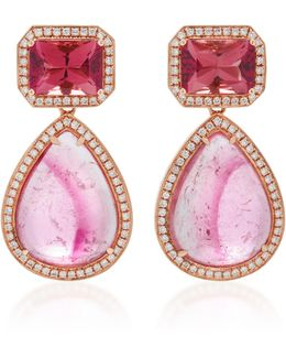 14k Rose Gold Multi-stone Earrings