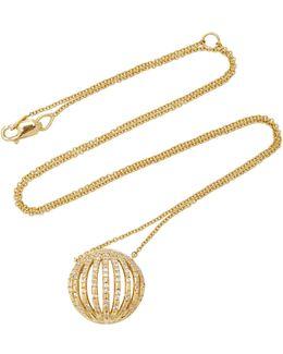 18k Gold, Diamond And Enamel Necklace