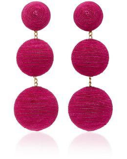Classic Silk Corded Clip Earrings