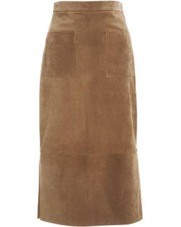 Suede Odessa Skirt