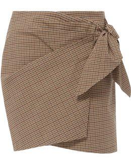 Ninon Gingham Wrap Mini Skirt