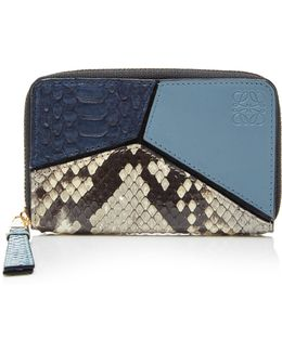 Puzzle Small Python And Leather Wallet