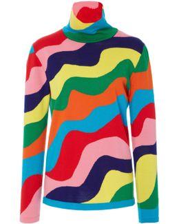 Rainbow Turtleneck Knit